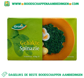 Groko Gehakte spinazie aanbieding