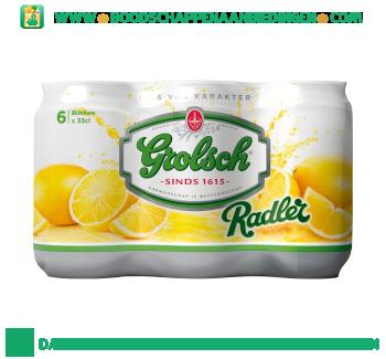 Grolsch Radler lemon pak 6 blikjes aanbieding