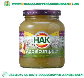 Hak Appelcompote met stukjes appel aanbieding