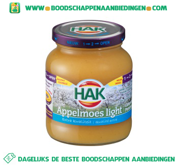 Hak Appelmoes light aanbieding