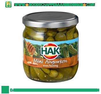 Hak Mini augurken zoet/honing aanbieding