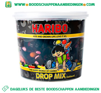 Haribo Gekleurde dropmix aanbieding