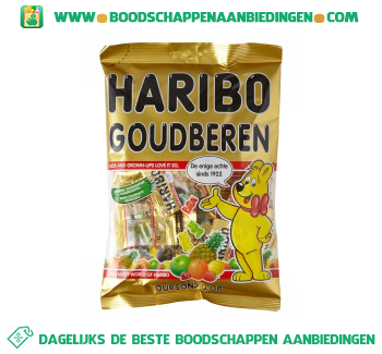 Haribo Goudberen uitdeelzak aanbieding