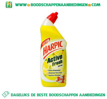 Harpic Active fresh 3 in 1 toiletreiniger citroen aanbieding