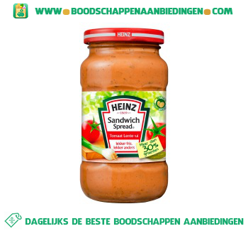Heinz Sandwichspread tomaat & ui aanbieding