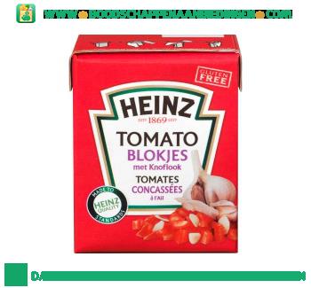 Heinz Tomato blokjes met knoflook aanbieding