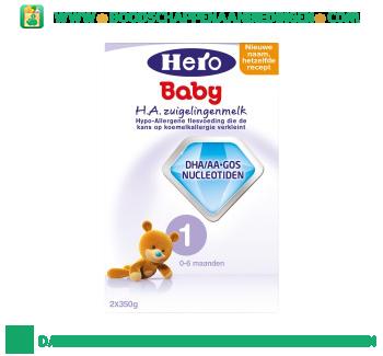 Hypo-allergeen zuigelingenmelk 1 aanbieding