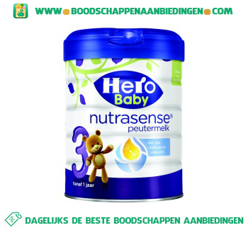 Hero Baby Nutrasense peutermelk 3 aanbieding