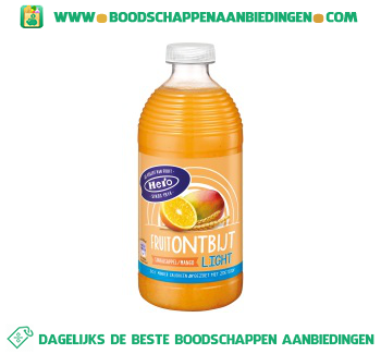 Hero Fruitontbijt sinaasappel mango light aanbieding
