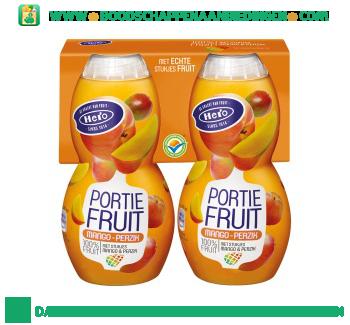 Hero Portiefruit mango perzik aanbieding