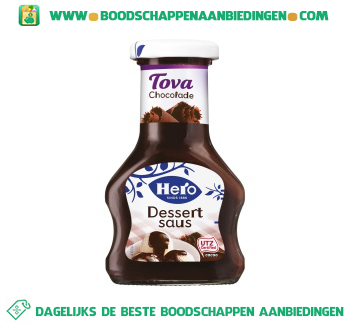 Hero Tova dessertsaus chocolade aanbieding