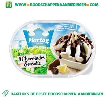 Hertog IJs 3 chocolades aanbieding