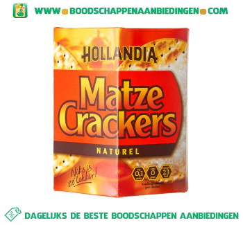 Hollandia Matze crackers naturel aanbieding