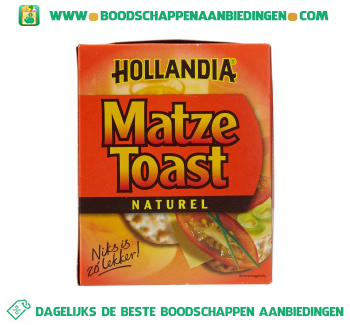 Hollandia Matze toast naturel aanbieding