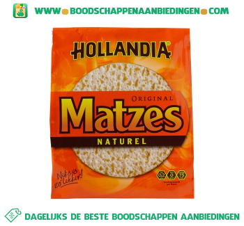 Hollandia Ronde matzes naturel aanbieding