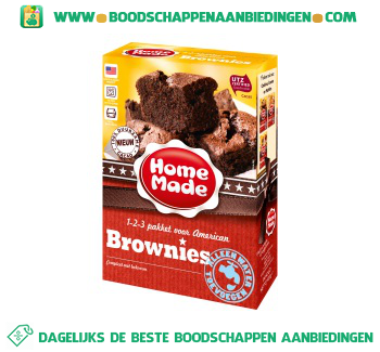 Home Made Complete mix voor American brownies aanbieding