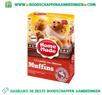 Home Made Complete mix voor American muffins aanbieding