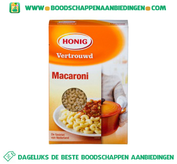 Honig Macaroni aanbieding