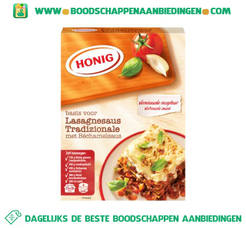 Honig Mix voor lasagnesaus tradizionale aanbieding