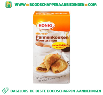 Honig Mix voor pannenkoeken meergranen aanbieding