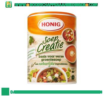 Soep creatie basis voor verse groentesoep aanbieding