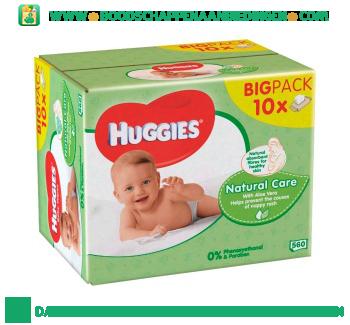 Huggies Babydoekjes natural care 10-pak aanbieding