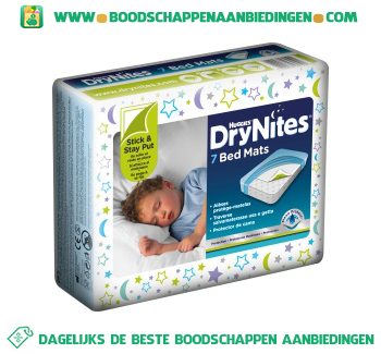 Huggies Dry nites bed mats aanbieding
