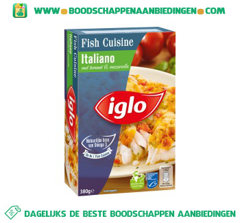 Iglo Fish Cuisine Italiano aanbieding