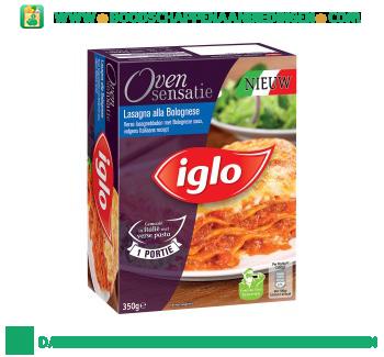 Iglo Lasagne bolognese aanbieding