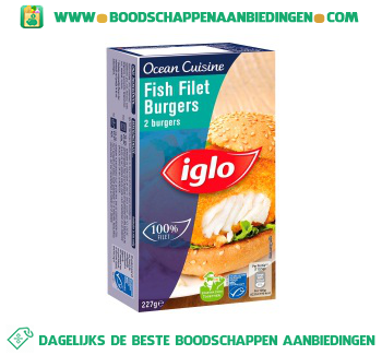 Iglo Ocean Cuisine fish filet burgers aanbieding