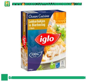 Iglo Ocean Cuisine lekkerbekjes in bierbeslag aanbieding