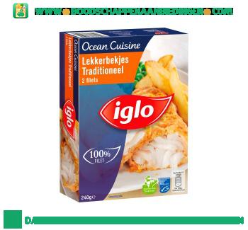 Iglo Ocean Cuisine lekkerbekjes traditioneel aanbieding