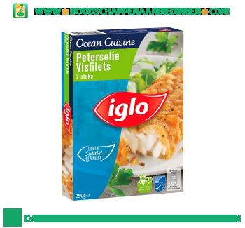Iglo Ocean Cuisine peterselie visfilets aanbieding