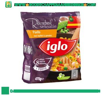 Iglo Paella met kipfilet en garnalen aanbieding