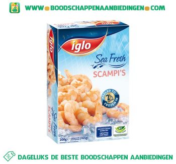 Iglo Scampi`s aanbieding