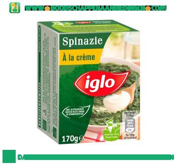 Iglo Spinazie à la crème aanbieding