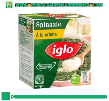 Iglo Spinazie à la crème deelblokjes aanbieding