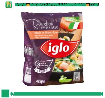 Iglo Tagliatelle met zalm en spinazie aanbieding