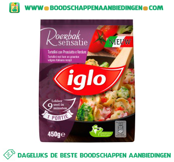 Iglo Tortellini ham aanbieding