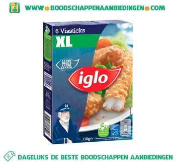 Iglo Vissticks XL aanbieding