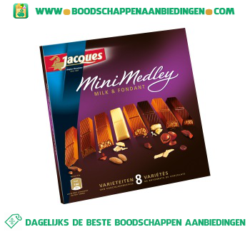 Jacques Mini medley milk & fondant aanbieding