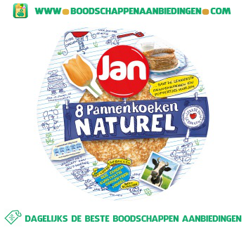 Jan Pannenkoeken naturel aanbieding