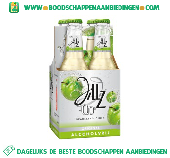 Jillz Sparkling cider 0.0% pak 4 flesjes aanbieding
