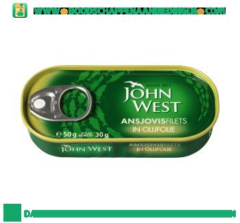 John West Ansjovisfilets in olijfolie aanbieding