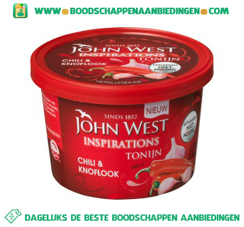 John West Inspirations tonijn chili & knoflook aanbieding
