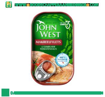 John West Makreelfilets in gekruide tomatensaus aanbieding