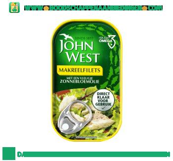 John West Makreelfilets in zonnebloemolie aanbieding