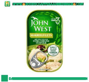 John West Makreelfilets met een vleugje extra vergine olijfolie aanbieding