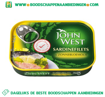 John West Sardinefilets zonder graat aanbieding