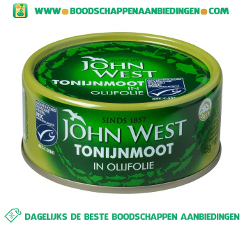 John West Tonijnmoot in olijfolie aanbieding